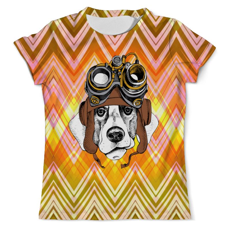 Футболка с полной запечаткой (мужская) Printio Пес летчик футболка с полной запечаткой для девочек printio пес летчик