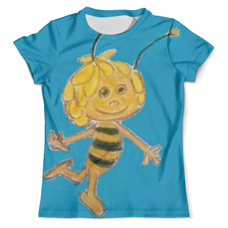 Футболка с полной запечаткой (мужская) Printio Пчелка карандаш с вашим именем пчелка