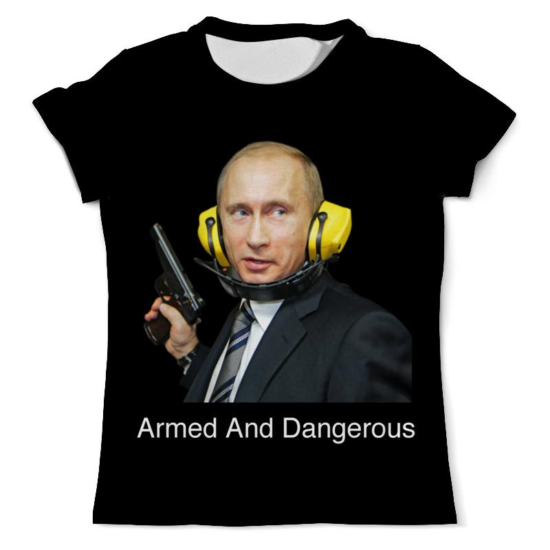 Футболка с полной запечаткой (мужская) Printio Armed and dangerous путин футболка с полной запечаткой мужская printio armed and dangerous путин