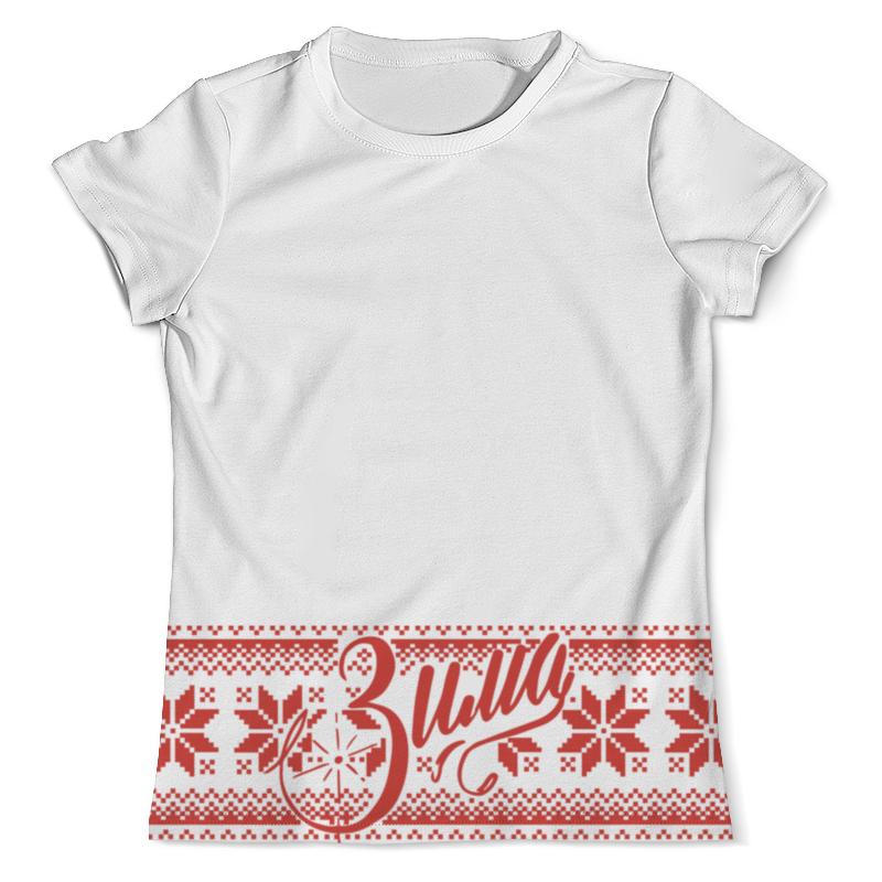 Футболка с полной запечаткой (мужская) Printio Вязаный узор зима футболка с полной запечаткой мужская printio вязаный узор зима