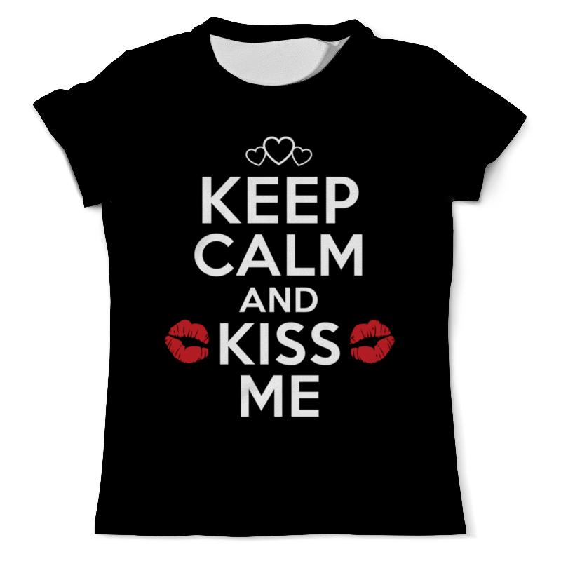 Футболка с полной запечаткой (мужская) Printio Keep calm and kiss me футболка с полной запечаткой для мальчиков printio kiss me