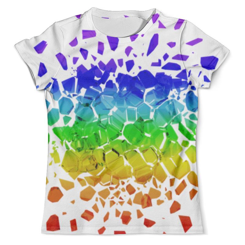 Футболка с полной запечаткой (мужская) Printio Broken rainbow футболка с полной запечаткой женская printio broken rainbow