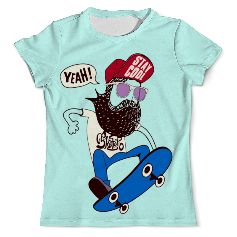 Футболка с полной запечаткой (мужская) Printio Скейтер с бородой футболка с полной запечаткой мужская printio фрактальная эзотерика мандалы