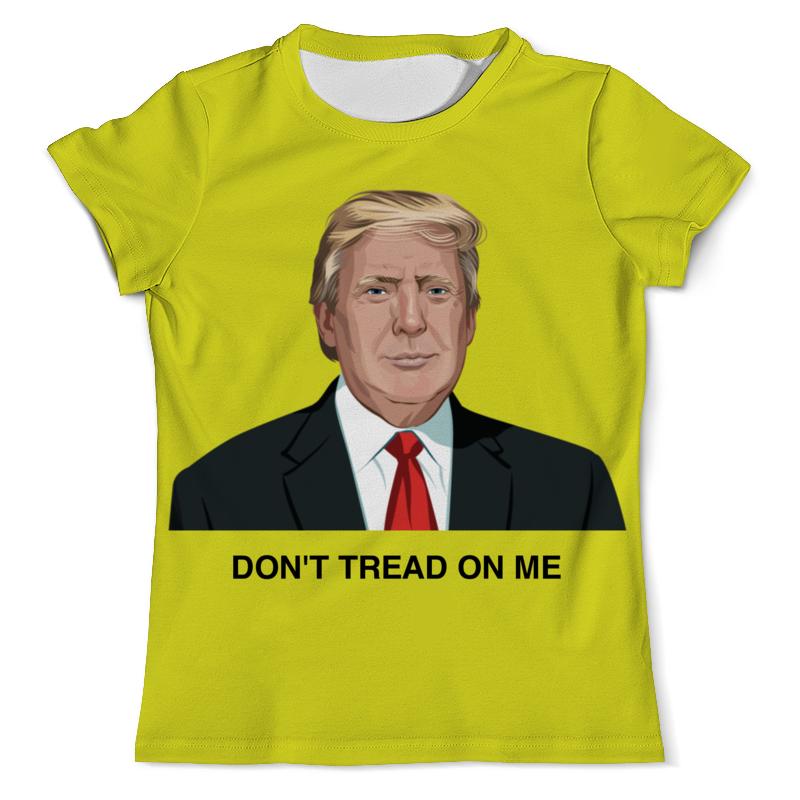 купить Футболка с полной запечаткой (мужская) Printio Trump. dont tread on me. дональд трамп недорого