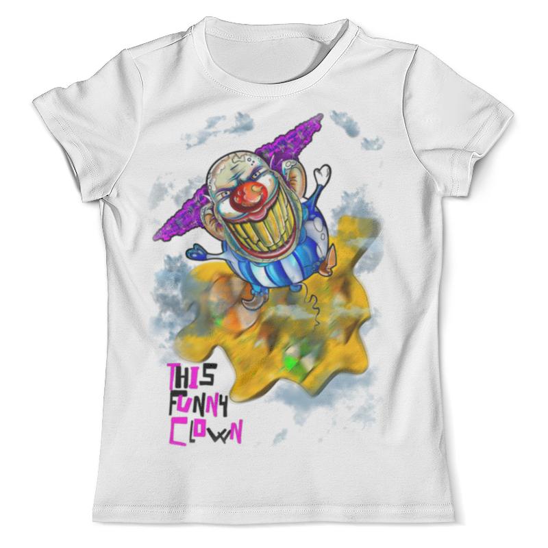 Футболка с полной запечаткой (мужская) Printio Смешной клоун цена и фото