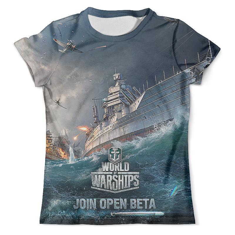 Футболка с полной запечаткой (мужская) Printio World of warships. видеоигры