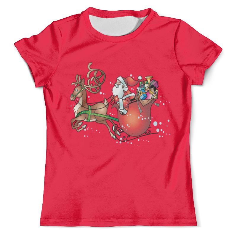 Футболка с полной запечаткой (мужская) Printio Новогодние сани футболка с полной запечаткой мужская printio новогодние шары