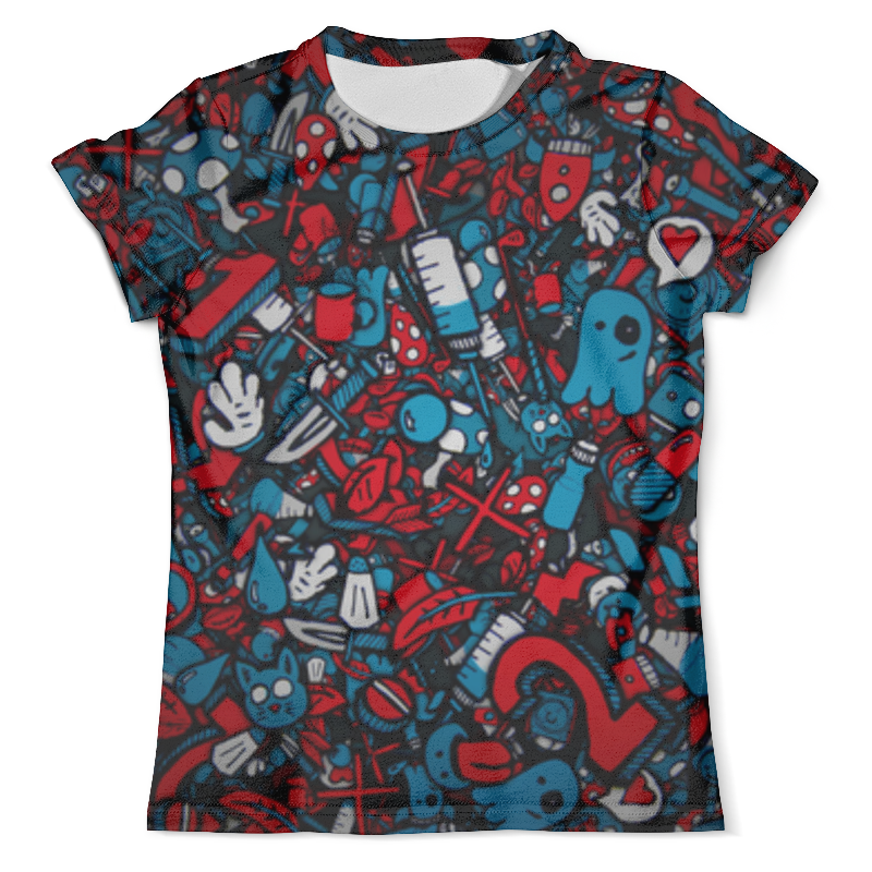 Футболка с полной запечаткой (мужская) Printio Абстракция футболка с полной запечаткой мужская printio красная абстракция с ножницами