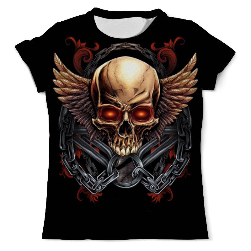 Printio Череп с крыльями футболка с полной запечаткой для девочек printio череп с крыльями