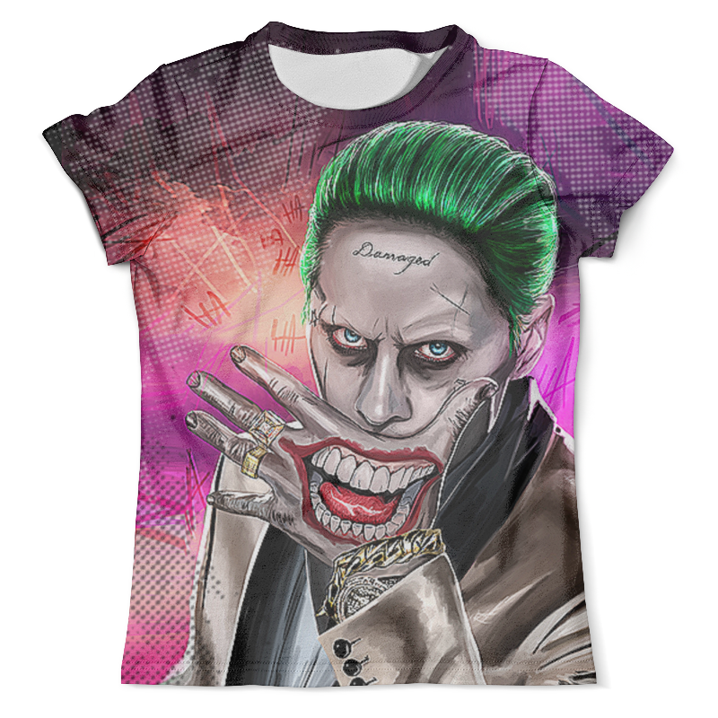 Футболка с полной запечаткой (мужская) Printio The joker design(suicide squad) fvip movie suicide squad wallet the joker harley quinn dc comics bifold men women wallets with card holder purse billeteras
