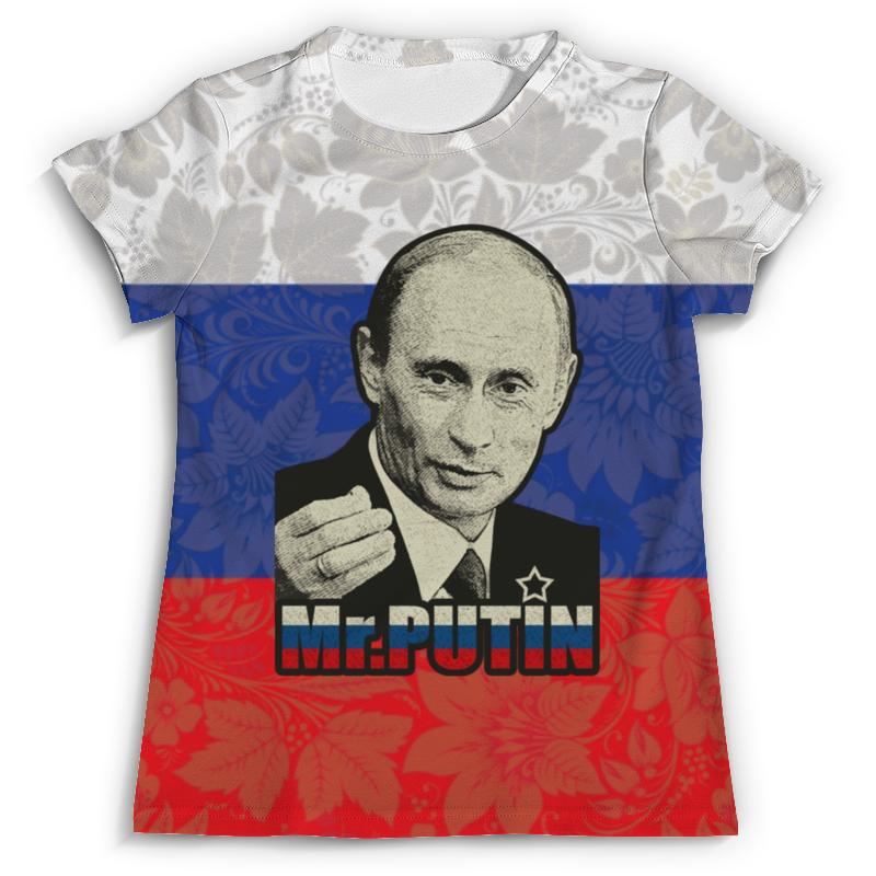Футболка с полной запечаткой (мужская) Printio Президент россии в. в. путин ( mr.putin ) творожный сыр президент в одессе