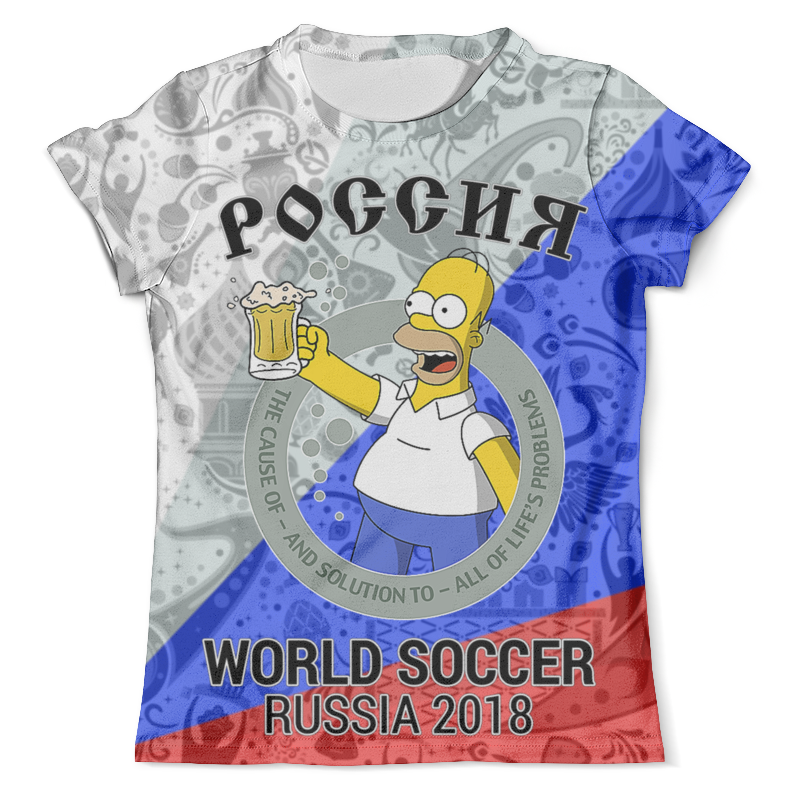 Футболка с полной запечаткой (мужская) Printio Россия design футболка с полной запечаткой мужская printio юра россия