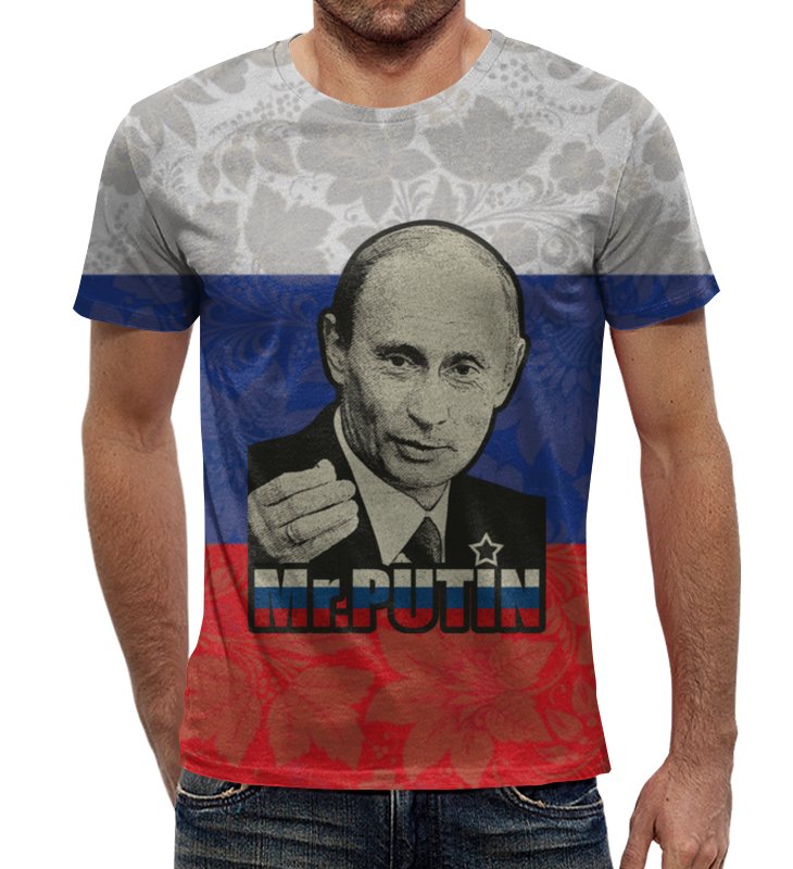 Футболка с полной запечаткой Printio Президент россии в. в. путин ( mr.putin )
