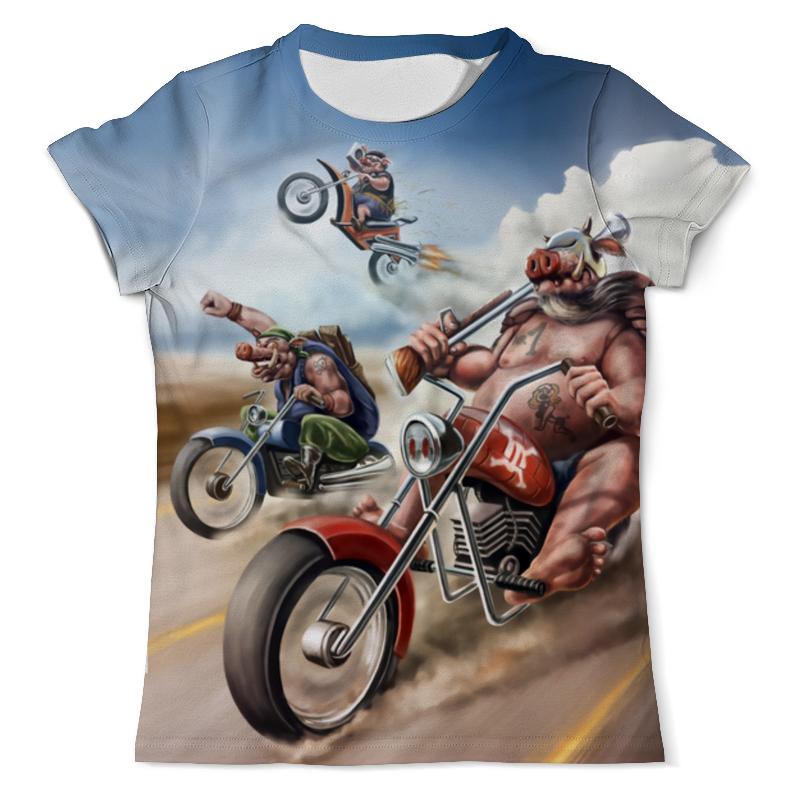 Футболка с полной запечаткой (мужская) Printio Three little bikers футболка классическая printio three apes