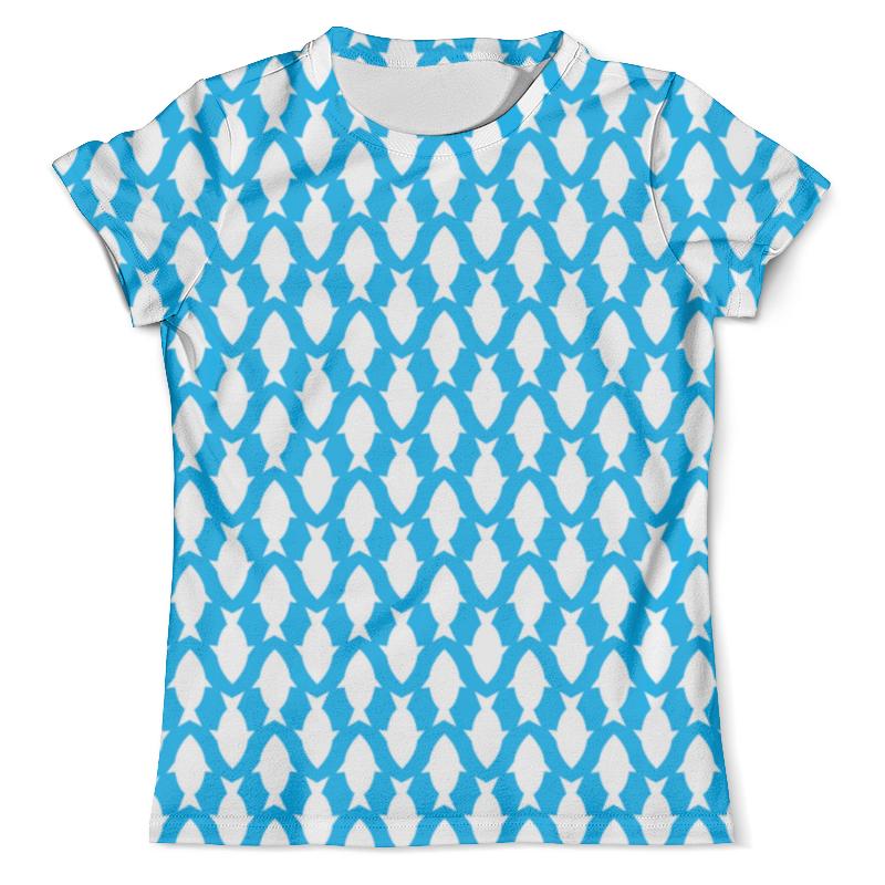 Футболка с полной запечаткой (мужская) Printio Белые рыбы футболка с полной запечаткой мужская printio летняя