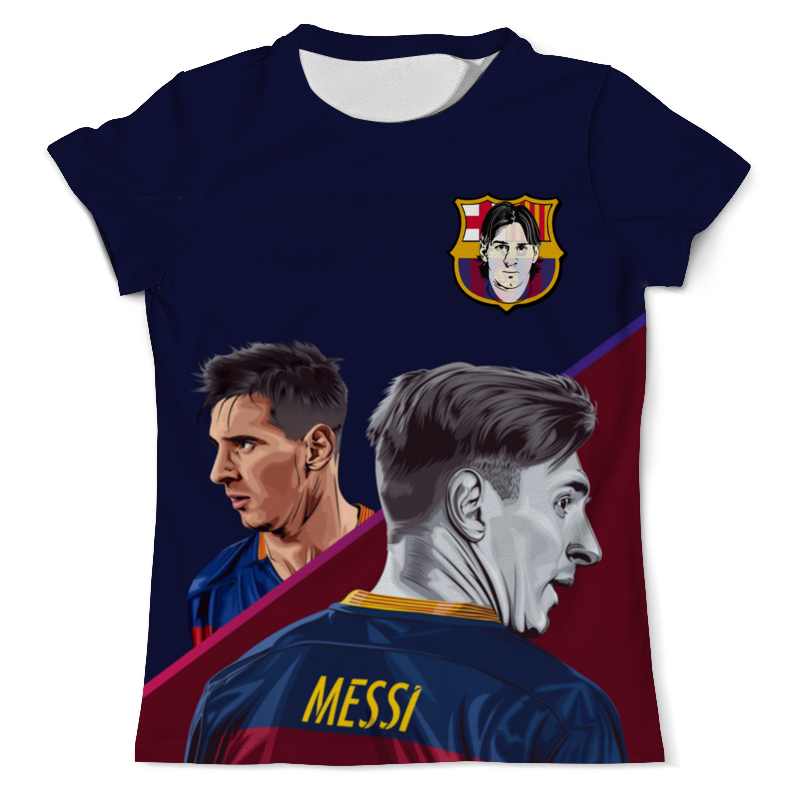 Футболка с полной запечаткой (мужская) Printio Lionel messi - лионель месси секретный футболист изнанка футбольного мира