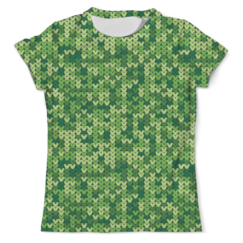 Футболка с полной запечаткой (мужская) Printio Зеленый вязаный узор футболка с полной запечаткой мужская printio вязаный узор зима