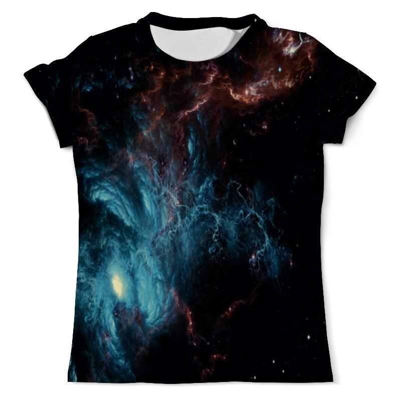Футболка с полной запечаткой (мужская) Printio Голубой космос футболка с полной запечаткой женская printio голубой космос