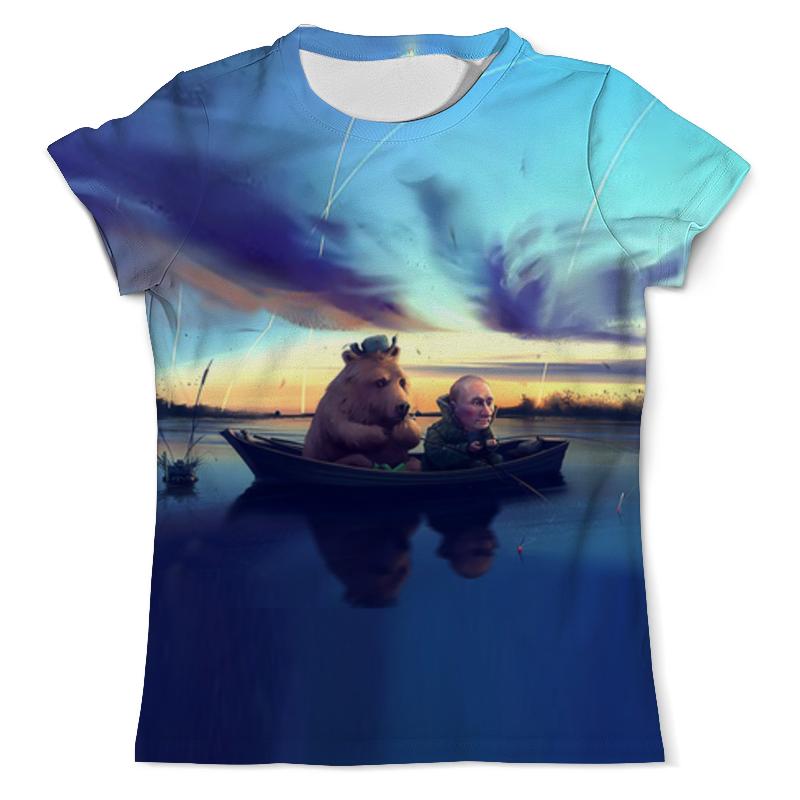 Фото - Футболка с полной запечаткой (мужская) Printio Ночная рыбалка футболка с полной запечаткой мужская printio ночная дорога