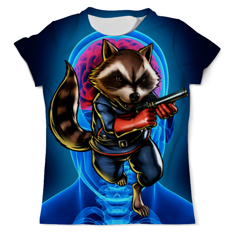 Printio Стражи галактики: реактивный енот футболка с полной запечаткой мужская printio енот за столом