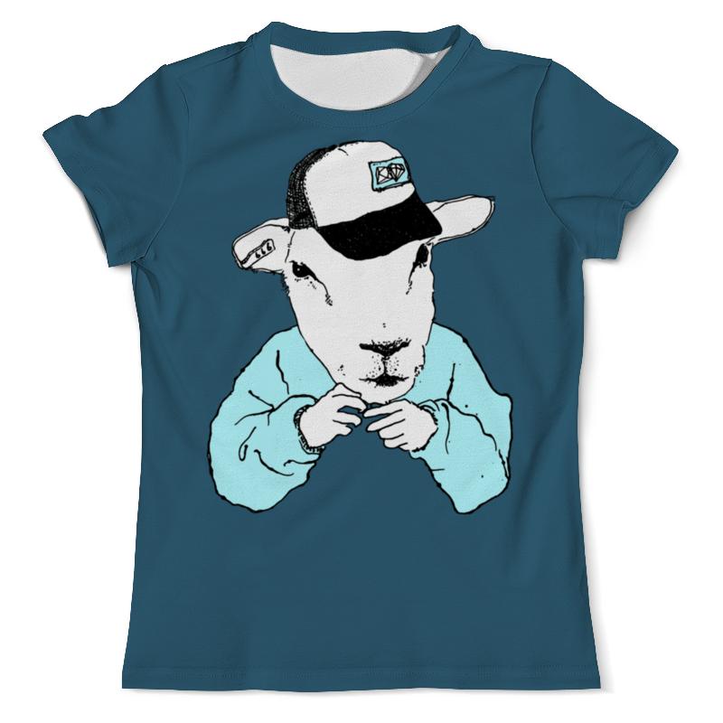 Футболка с полной запечаткой (мужская) Printio Барашек хипстер футболка с полной запечаткой для девочек printio хипстер пес