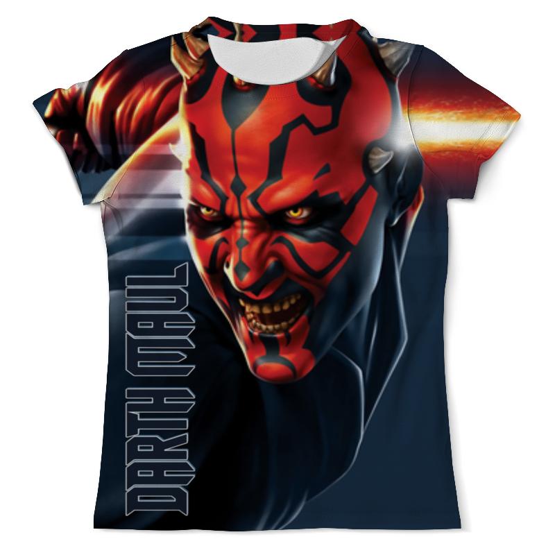 Футболка с полной запечаткой (мужская) Printio Star wars design (darth maul) футболка с полной запечаткой мужская printio darth vaider