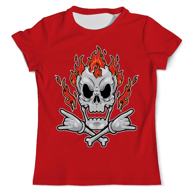 Printio Череп в огне футболка с полной запечаткой женская printio череп в огне
