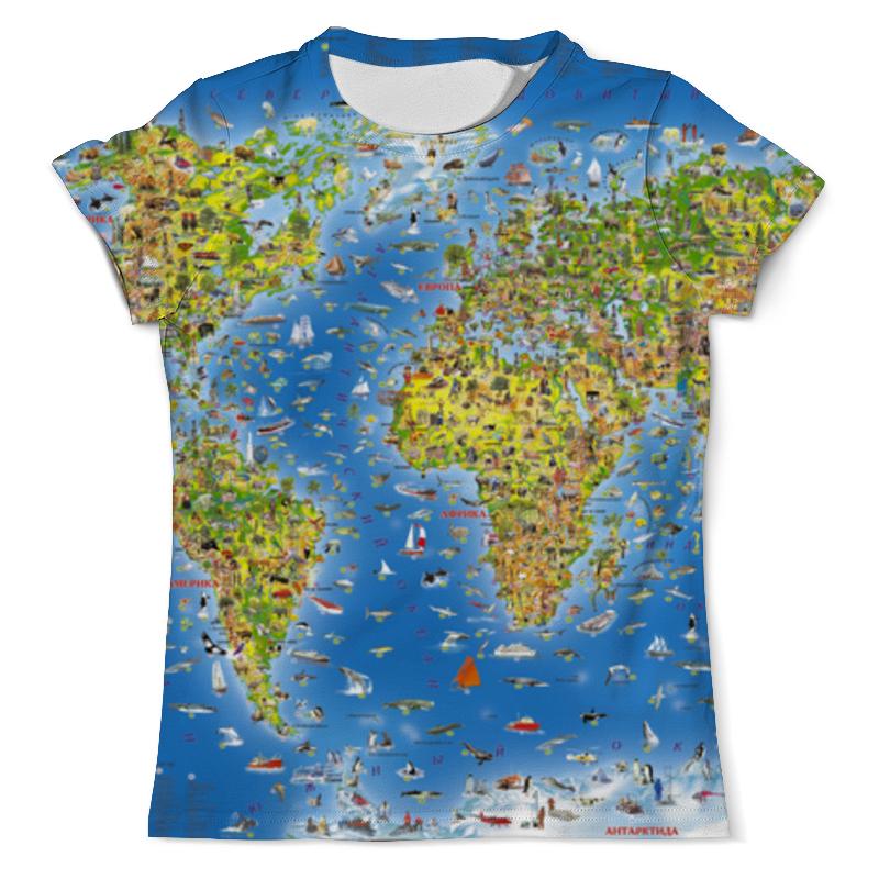 Футболка с полной запечаткой (мужская) Printio World map футболка с полной запечаткой мужская printio old map page 4