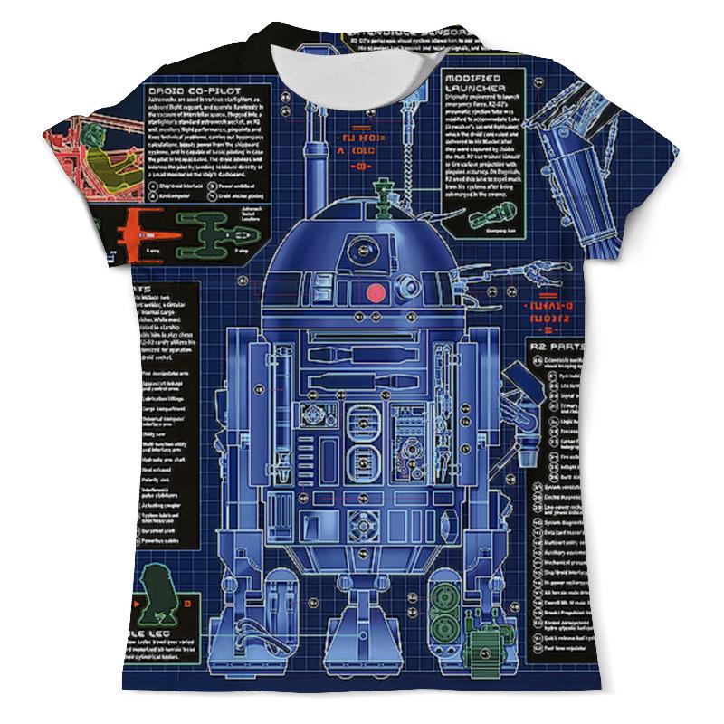 Printio R2-d2 design(star wars) футболка с полной запечаткой женская printio star wars r2 d2