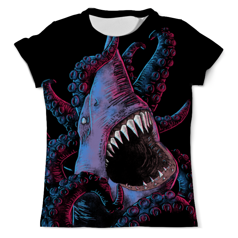 Printio Акула vs осьминог футболка с полной запечаткой мужская printio акула vs осьминог