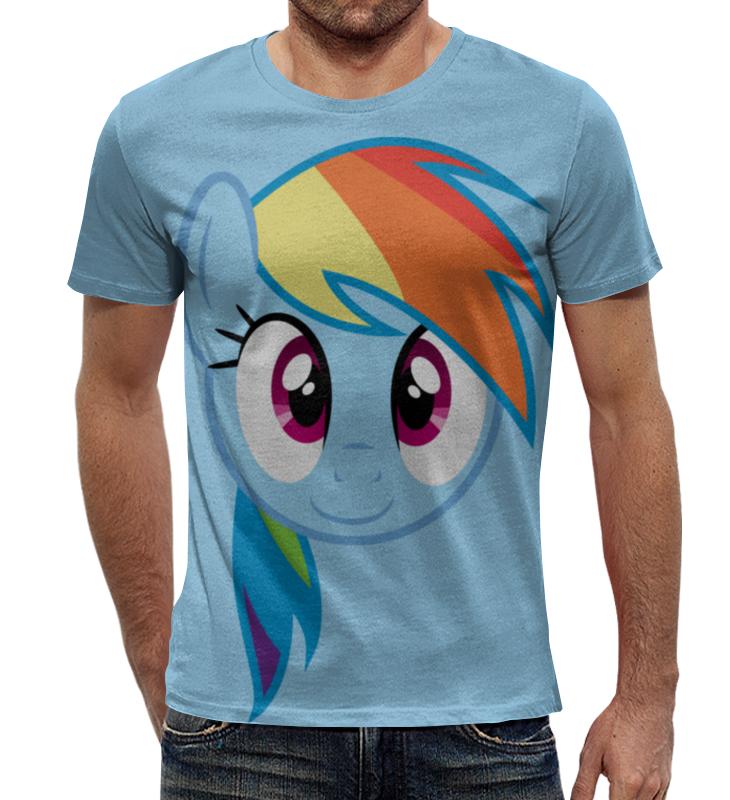 Футболка с полной запечаткой Printio Rainbow dash / рейнбоу дэш футболка стрэйч printio rainbow dash рейнбоу дэш