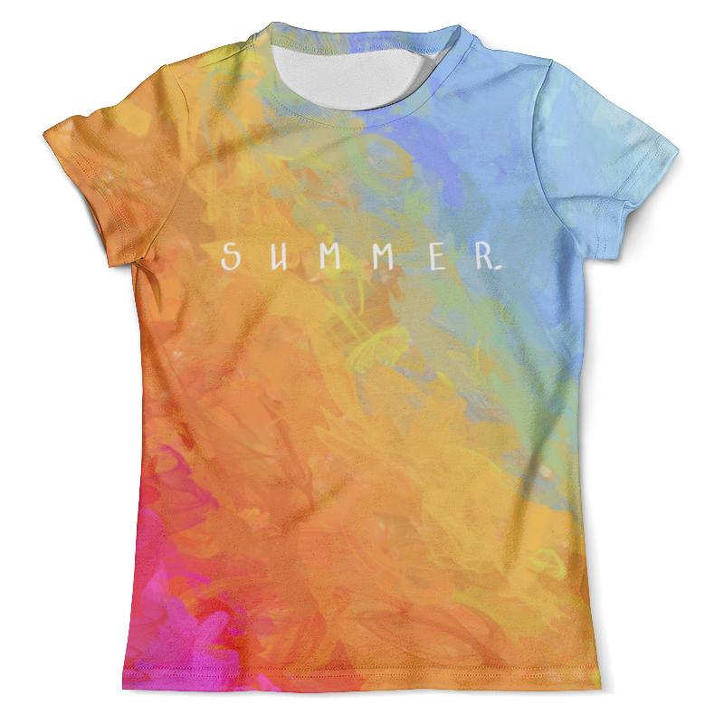 Футболка с полной запечаткой (мужская) Printio Яркий радужный дизайн с надписью summer футболка с надписью фскн