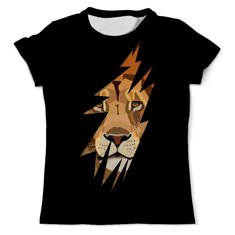 Футболка с полной запечаткой (мужская) Printio Лев ( lion) свитшот унисекс с полной запечаткой printio лев lion