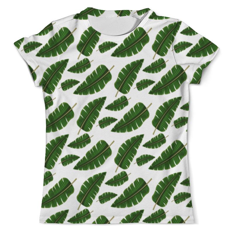 лучшая цена Футболка с полной запечаткой (мужская) Printio Тропические листья