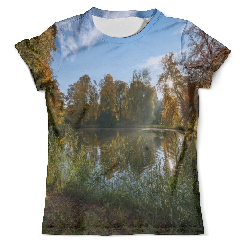 Футболка с полной запечаткой (мужская) Printio Деревья у озера деревушка у озера