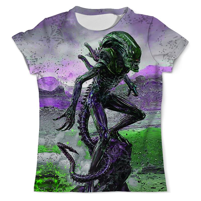 Футболка с полной запечаткой (мужская) Printio Alien design (color) цена