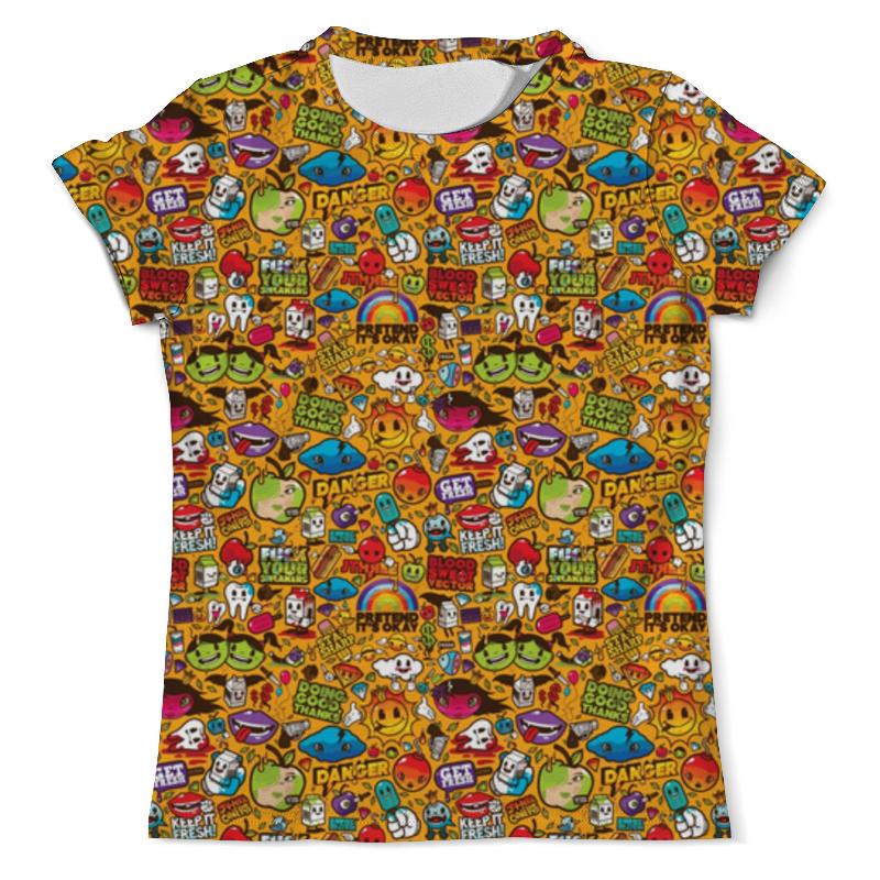 Фото - Футболка с полной запечаткой (мужская) Printio Стикеры футболка с полной запечаткой для девочек printio стикеры