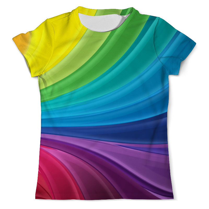 Футболка с полной запечаткой (мужская) Printio Радуга футболка с полной запечаткой мужская printio радуга цвета жизни