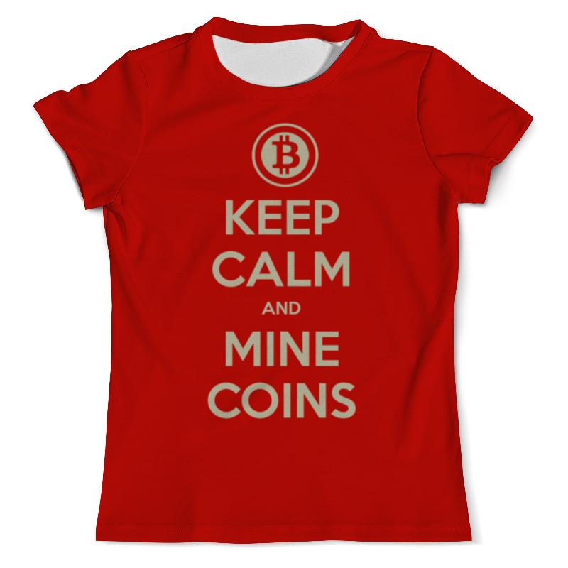 Футболка с полной запечаткой (мужская) Printio Keep calm and mine coins сумка с полной запечаткой printio be mine