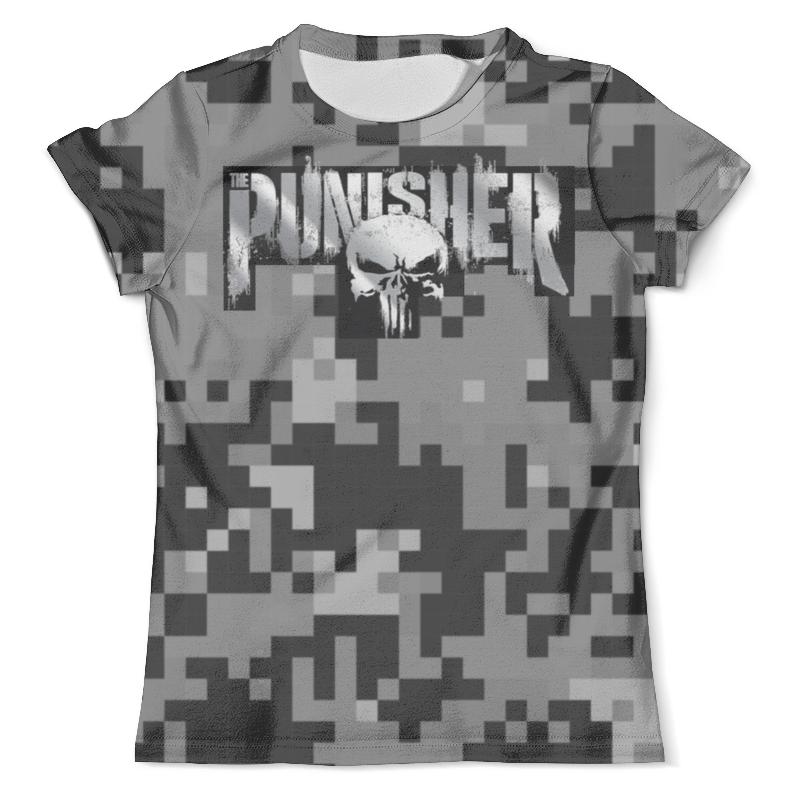 Футболка с полной запечаткой (мужская) Printio Punisher - каратель цена и фото