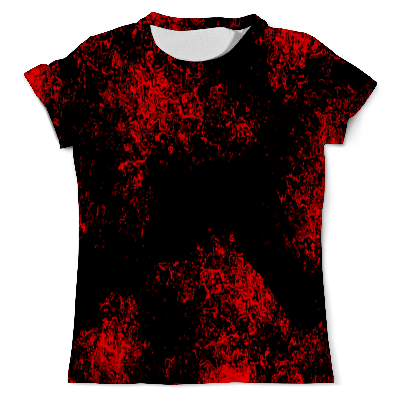 Футболка с полной запечаткой (мужская) Printio Красная краска футболка с полной запечаткой мужская printio красная шапочка и серый волк 3
