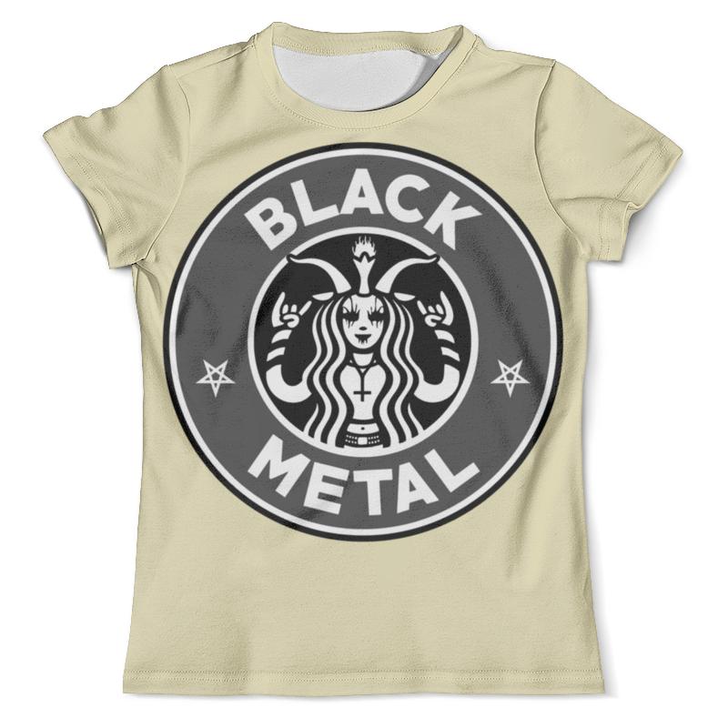 Футболка с полной запечаткой (мужская) Printio Starbucks / black metal metal mulisha футболка metal mulisha quartered black