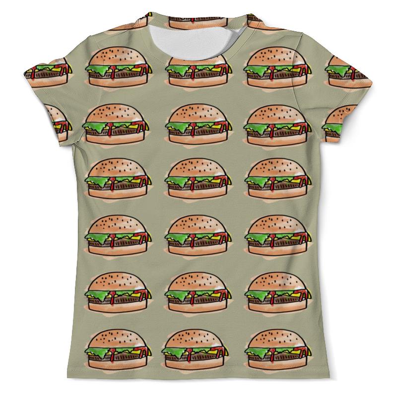 Футболка с полной запечаткой (мужская) Printio I love burgers!