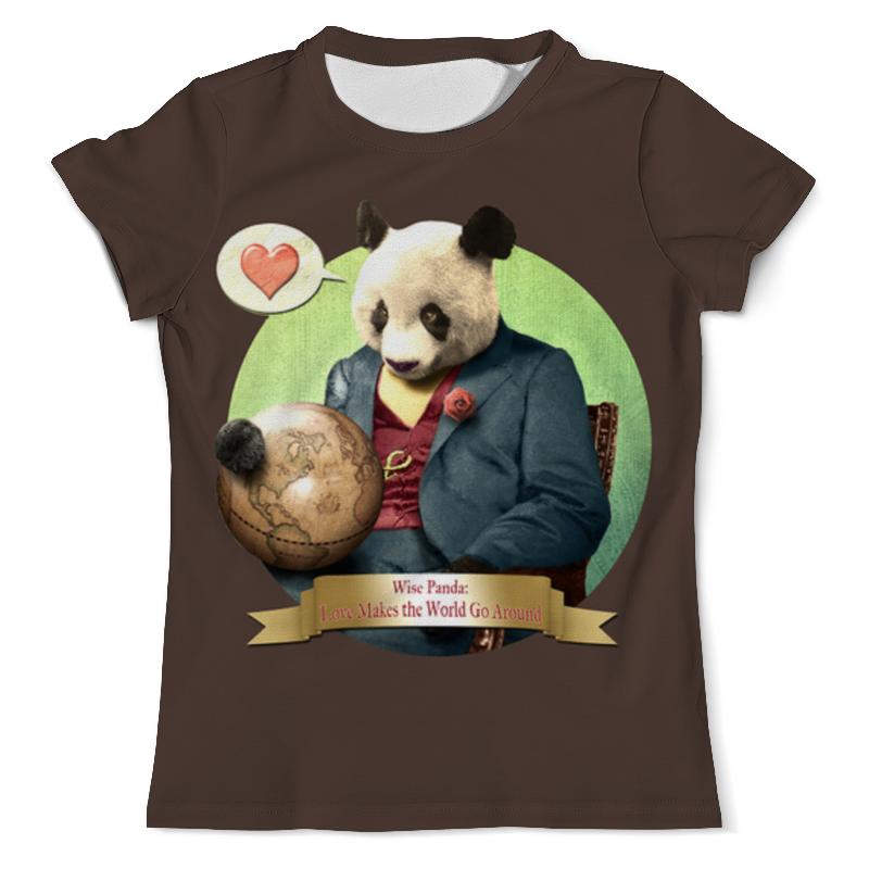 Футболка с полной запечаткой (мужская) Printio Влюблённая панда
