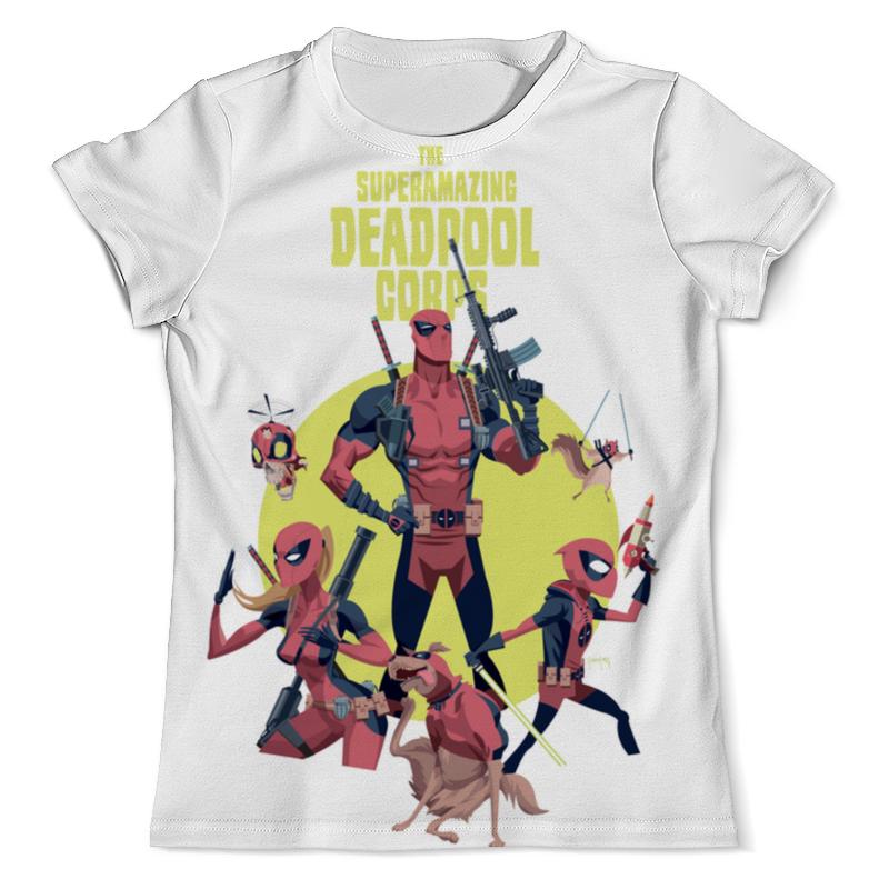Фото - Футболка с полной запечаткой (мужская) Printio Deadpool family чехол для iphone 5 глянцевый с полной запечаткой printio deadpool vs punisher
