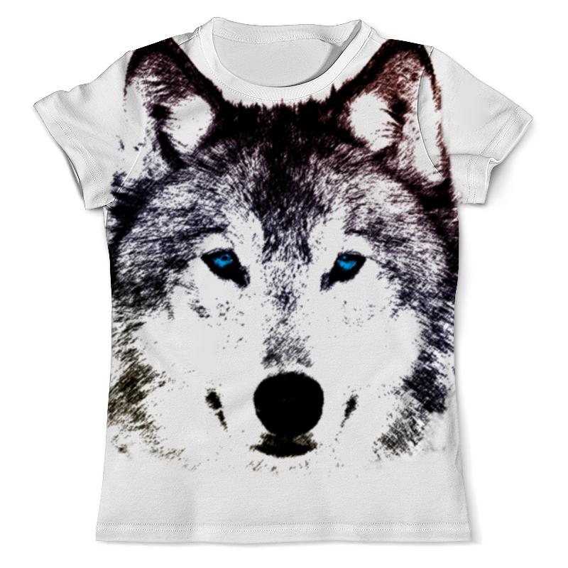 Футболка с полной запечаткой (мужская) Printio Волк (графика) футболка с полной запечаткой мужская printio красная шапочка и серый волк 3