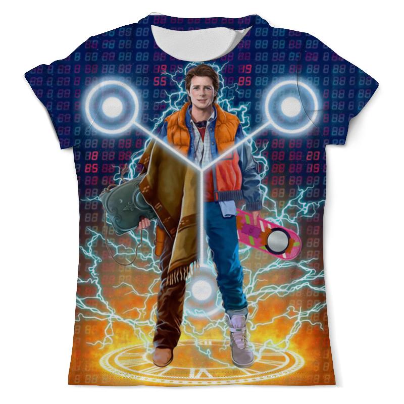 Футболка с полной запечаткой (мужская) Printio Back to the future (двусторонняя) футболка с полной запечаткой мужская printio back to the future двусторонняя 1