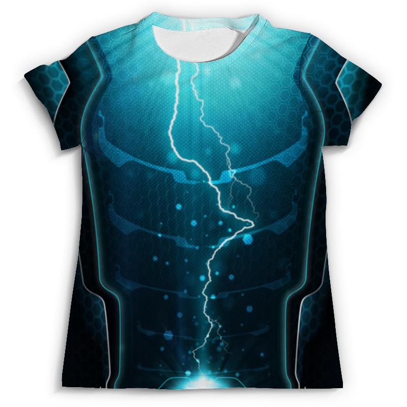 Футболка с полной запечаткой (мужская) Printio Lightning storm футболка с полной запечаткой мужская printio набережная в крыму константин коровин