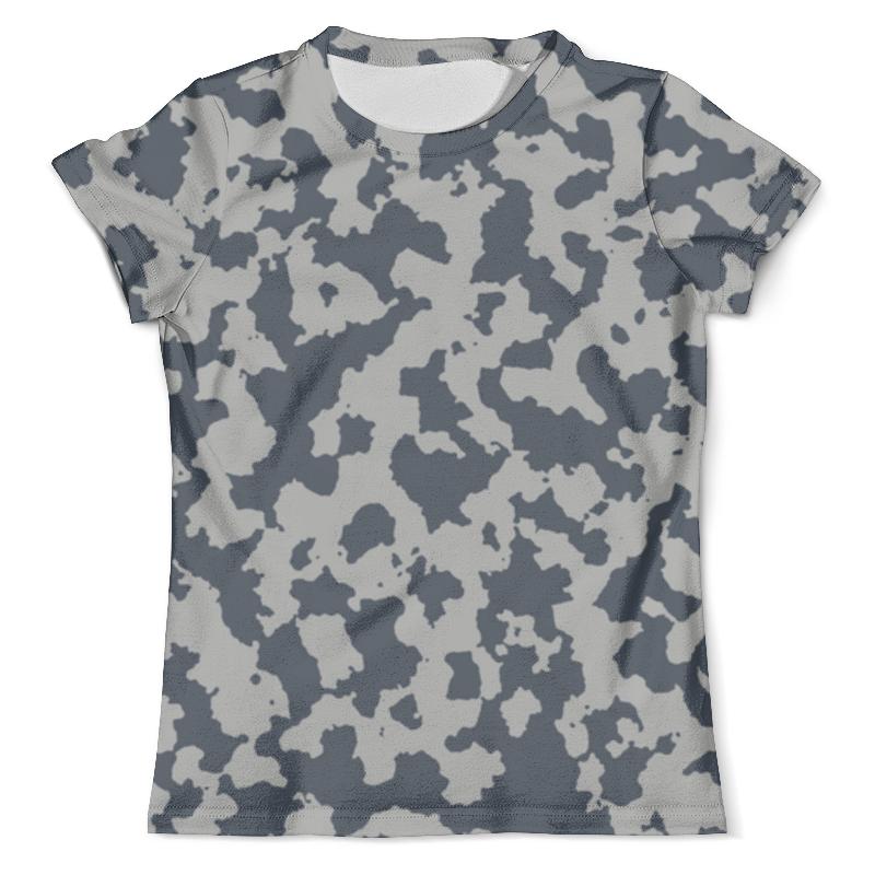 Футболка с полной запечаткой (мужская) Printio Сине-серый камуфляж футболка с полной запечаткой мужская printio красная шапочка и серый волк
