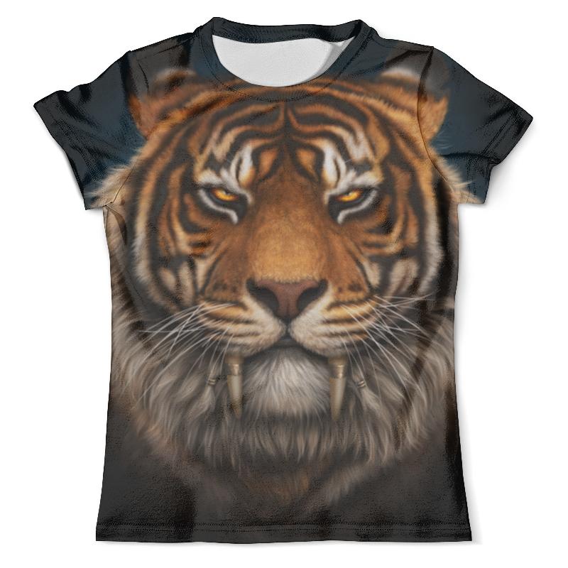 Футболка с полной запечаткой (мужская) Printio Тигр. футболка с полной запечаткой мужская printio красочный тигр